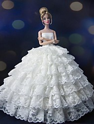 Barbie Doll Stunning Ivory Holiday Party Dress