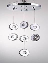 Modern High-Grade Seven Ring,7 LED Lights Stainless Steel Crystal Chandeliers