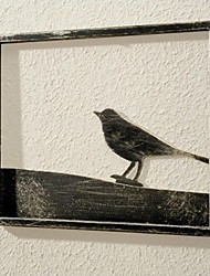 E-HOME® Metal Wall Art Wall Decor, The Bird Wall Decor One PCS