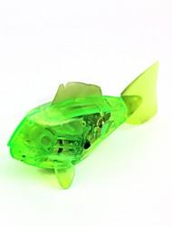 brinquedo piranha peixe eletrônico - verde translúcida (2 x LR44)