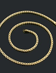 Figaro 45 centímetros homens cadeia dourado chapeado colares cadeia (largura 7 milímetros)