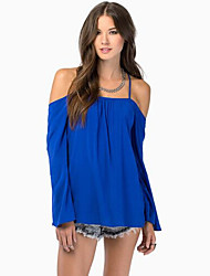 KaKaNi Women's European Fashion Off The Shoulder Casual Blouse