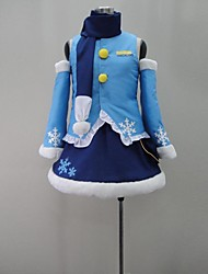 Inspired by Vocaloid Snow Miku Video Game Cosplay Costumes Cosplay Suits Patchwork Blue SleevelessShirt / Skirt / Headpiece / More