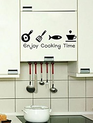Wall Stickers Wall Decals, Enjoy Cooking Time PVC Wall Stickers