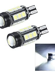merdia t15 7W 180lm 16x5050smd levou e uma lente condensadora luz branca revertendo / luz de freio (12v / pair)