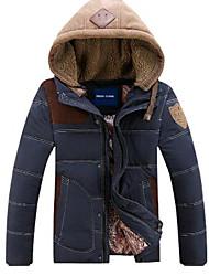 casuais grandes estaleiros encapuzados espessamento dos homens para baixo casaco outerwear