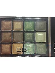 12 Eyeshadow Palette Dry Eyeshadow palette Powder Normal