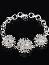 Women's Fashion Firework Design Silver Plated Bracelet