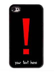 gepersonaliseerde geval uitroepteken ontwerp metalen behuizing voor de iPhone 4 / 4s