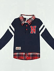 Children's T shirt Long Sleeve Letters Embroidery Children Sports T shirt Boys Tees