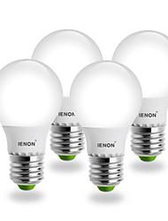 5W E26/E27 Ampoules Globe LED G60 SMD 400-450 lm Blanc Chaud AC 100-240 V 4 pièces
