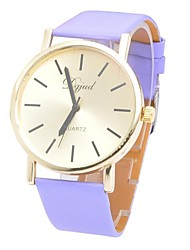 Unisex Fashion Smooth Round Belt Watch China Movement Watch(Assorted Colors)
