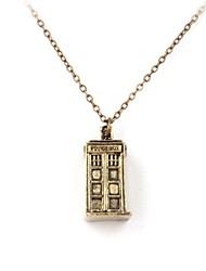 unisexe mystérieux médecin classiques du temps collier pendentif salle des machines de forme (or, argent) (1 pc)
