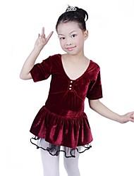 veludo feitiço moda da menina com mangas mangas curtas vestido