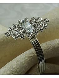 Metal Crystal Ring Napkin Ring, Iron , 1.77Inch, Set of 12
