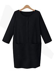 moda casual vestido solto das mulheres baibian