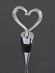 em forma de coração vinho tinto garrafa de zinco liga de rolha de torção