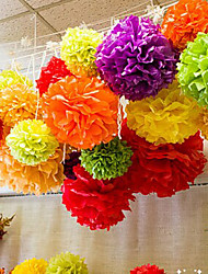 Wedding Décor 8 inch Tissue Paper Pom Poms  Party Decor Craft Paper Flowers (Set of 4)