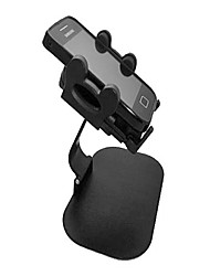 Rotatorio de 360 grados Car Mount Holder Set para IPHONE / Samsung / HTC / LG + Más - Negro