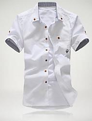 le champignon brodé chemise à manches courtes de Maidu hommes