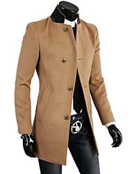 Men's   Casual Splice Slim    Trench coat