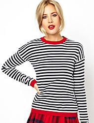 antonia Frauen Casual Streifen rückenfreies T-Shirt