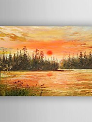 Oil Painting Modern Impression Landscape Hand Painted Canvas with Stretched Framed