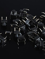 6x6x7mm Micro Switch Button Touch Switch Small Key-Press Switch(20Pcs)