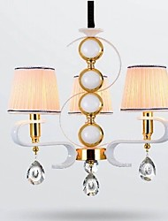 New  Fabric Chandelier 3 Light Modern Minimalist High-Grade  Lamp 110V or 220V