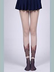 Devil Girl Gothic Flesh Color Lolita Stockings