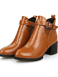 Francis Cat Women's  Point Toe Chunky Heel Boots Shoes
