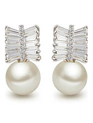 Ambilight Stylish and Elegant Upscale AAA Zircon Shell Beads Earrings