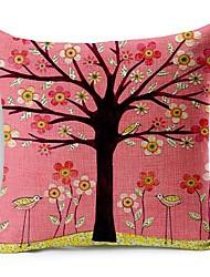 Розовая мечта цветок дерево хлопок / лен декоративная подушка крышка