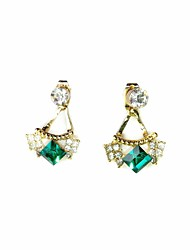 Women's Fashion Green  Rhinestone  Earrings