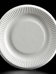 Strip Disposable Paper Plates Round ,Plastic 50Pcs/Bag