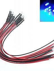 diy indicador de modificação do carro luz vermelha 3 milímetros lâmpadas led multicolor (10 peças)