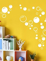 Wall Stickers Wall Decals, Cute Colorful PVC Removable the Beauty White Bubble Wall Stickers.