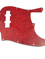 3Ply 10 Hole Red Pearl Jazz Bass Pickguard