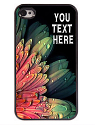 Personalized Case Elegant Flower Design Metal Case for iPhone 4/4S
