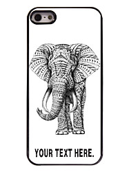 Personalized Case Elephant Design Metal Case for iPhone 5/5S