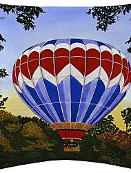 voando veludo balão quente tampa decorativa travesseiro