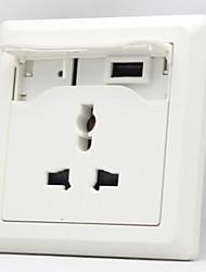 panneau de prises USB de charge prise de conversion multifonctionnel de chargeur usb de prise de transformation prise de charge