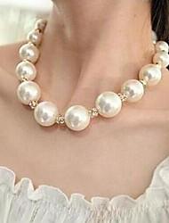 Elegant Luxury Big Pearl Necklace