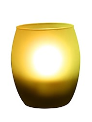 Egg Shape Frosted Glass Shake on Blow out LED Candle