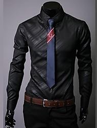 nuova camicia lunga oscura coreana uomini maniche