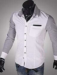 nova tarja cor da camisa de manga longa para homens