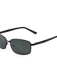 Polarized Men's Rectangle Alloy Sports Driving Sunglasses