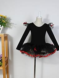 Roupas de Dança para Crianças Blusas / Vestidos e Saias / Tutus / Vestidos Crianças Algodão Balé / Espetáculo Manga Comprida
