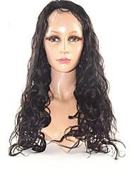 20inch 100% индийский человеческого волоса природа волна полный парик шнурка