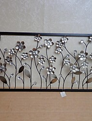 E-HOME® Metal Wall Art Wall Decor, Silver Flower Wall Decor